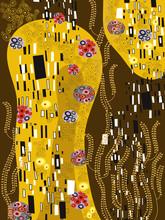 klimt inspirerad abstrakt konst