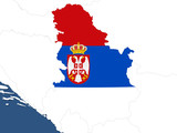 Serbia map poster