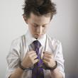 Boy with hand cuffed