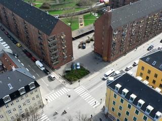 Corners of the streets in Copenhagen