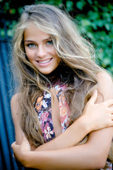 Beautiful model with long hair