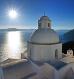 Fototapety Santorini sun