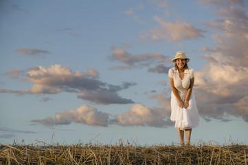 Woman Against a Cloudy Sky