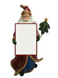 santa claus with announcement board poster