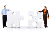 business partnership - puzzle poster