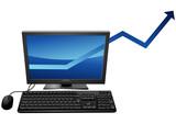 Augmentation des ventes informatiques poster