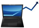 Augmentation des ventes de portables poster