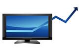 Augmentation des ventes de télévision à écran plat poster
