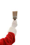 Santa Hand & Paintbrush poster
