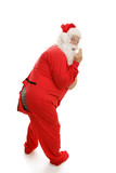 Santa in Pajamas - Ooops! poster