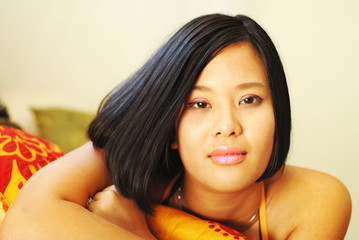 Gorgeous Asian American woman
