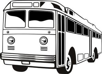 Retro style coach bus
