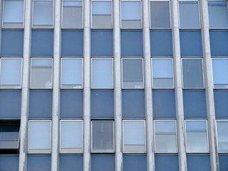 Façade géométrique, immeuble de bureaux, paris