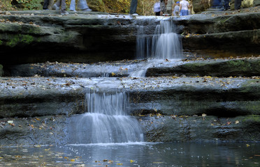 Starved Rock park waterfalls,