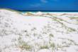 Pure white sand dunes