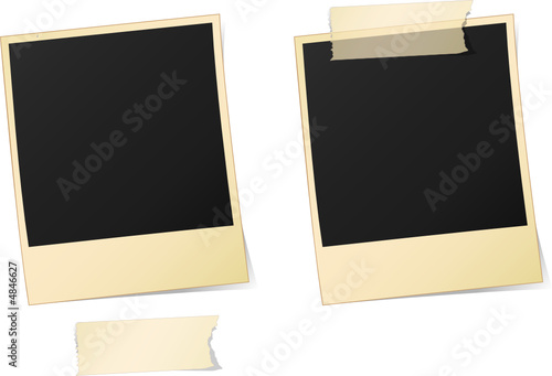 Cadre photo polaroid vectoriel