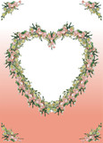 Gentle wedding framework decorated by branches from flowers poster