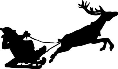 Père Noël sur son traîneau