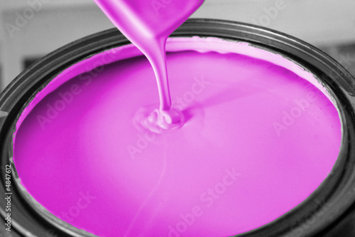 bucket of lavender paint