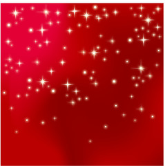 Fond étoilé sur ciel rouge