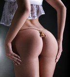 Jewelry on buttocks poster
