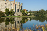 Picturesque English Castle on a sunny Autumn day poster