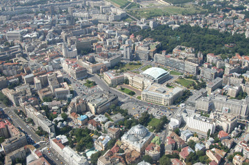 Bucharest, aerial view