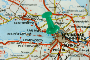 Leningrad on old map