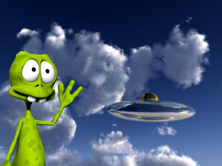 Alien With UFO 5
