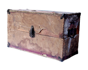 old grunge box, fragile and soft with age