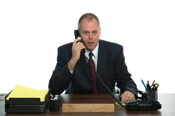 Businessman phone call