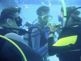 Scuba diving class poster