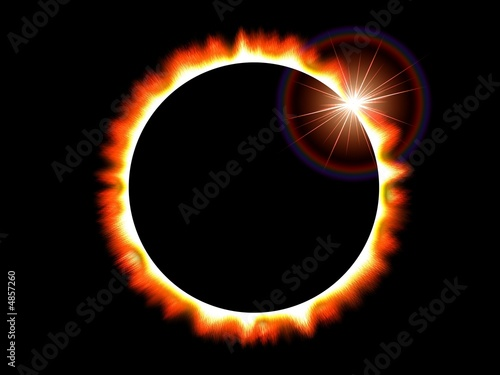 Solar Eclipse of the Sun on a Black Deep Space Background