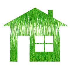 Illustration d'une maison écologique