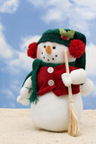 Christmas Vacation snowman at the beach poster