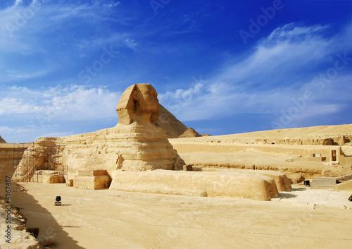 Leinwanddruck Bild sphinx - egypt