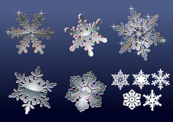 Real snowflakes