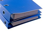 Blue file binder - isolated object poster