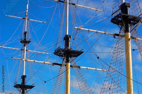 Masts on a background sky.