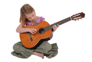 Young girl with guitar