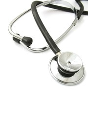 Stethoscope on white - 1