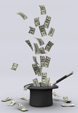 Magic wand and money poster