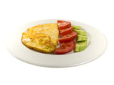 A scramble egg with cheese poster