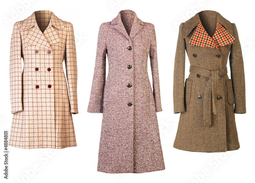Three woman coats