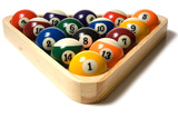Pool balls in Rack poster