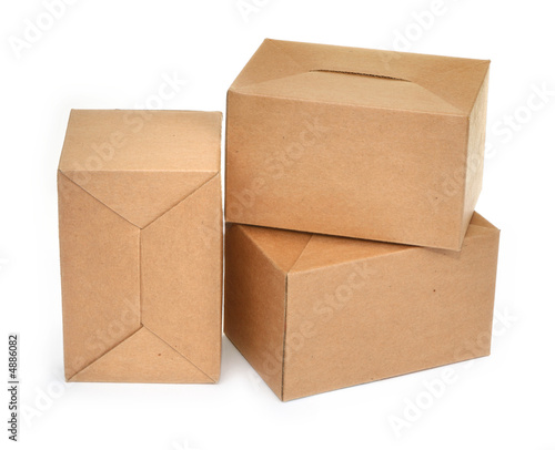 three cardboard boxes #2