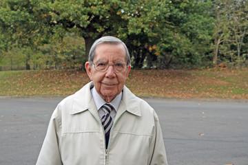 Retired gentleman in park