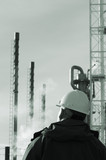 looking at oil and gas refinery poster