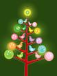 retro chicks christmas tree