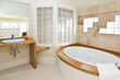 white bathroom with whirlpool tub